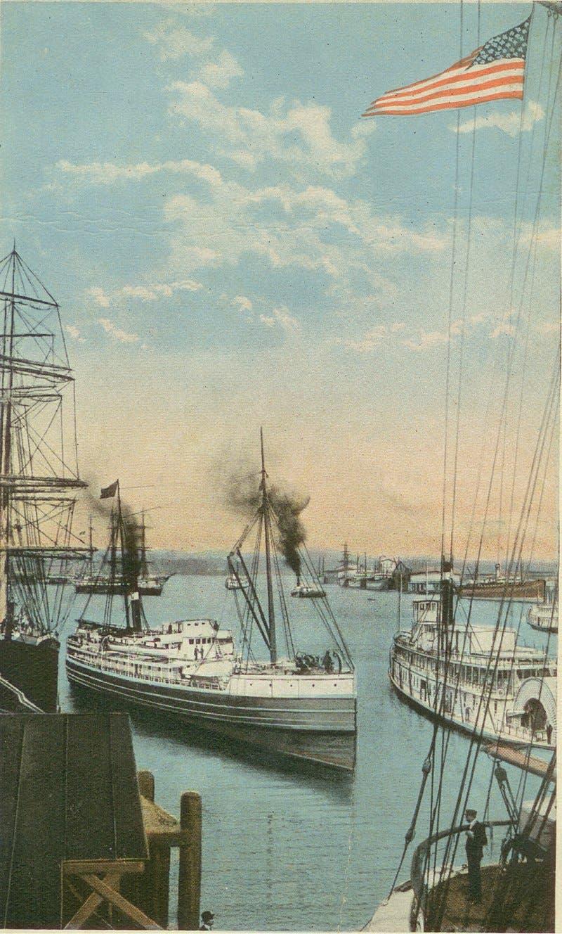 ميناء بورتلاند مطلع القرن العشرين