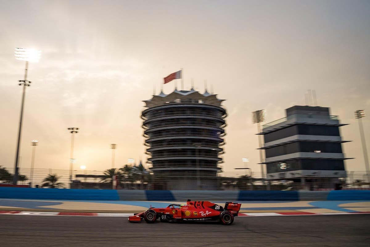 Mick Schumacher steers a Ferrari F1 car during private tests at the Sakhir circuit in the desert south of the Bahraini capital Manama, on April 2, 2019. (AFP)