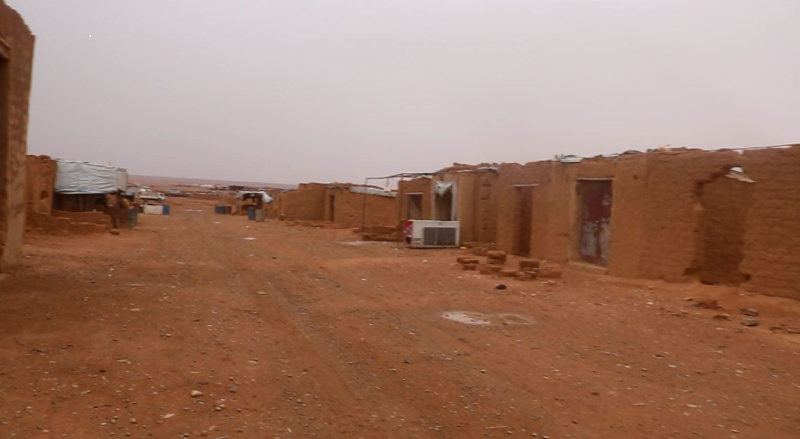 An image of Rukban Camp on the Syria-Jordan border. (Supplied: Mouaz Moustafa)