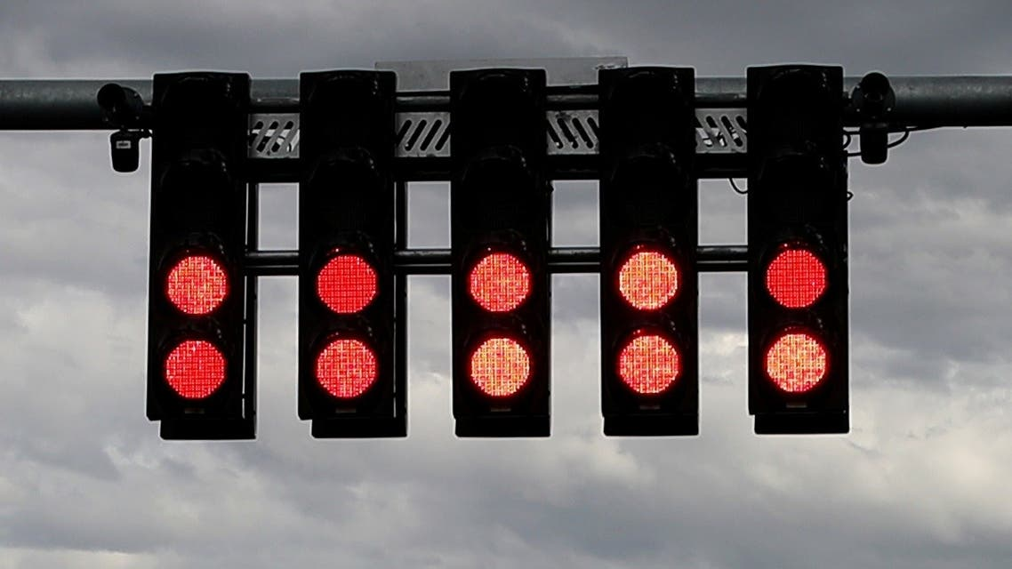 General view of the starting lights after it was announced the Australian Grand Prix would be cancelled due to the novel coronavirus. (File photo: Reuters)