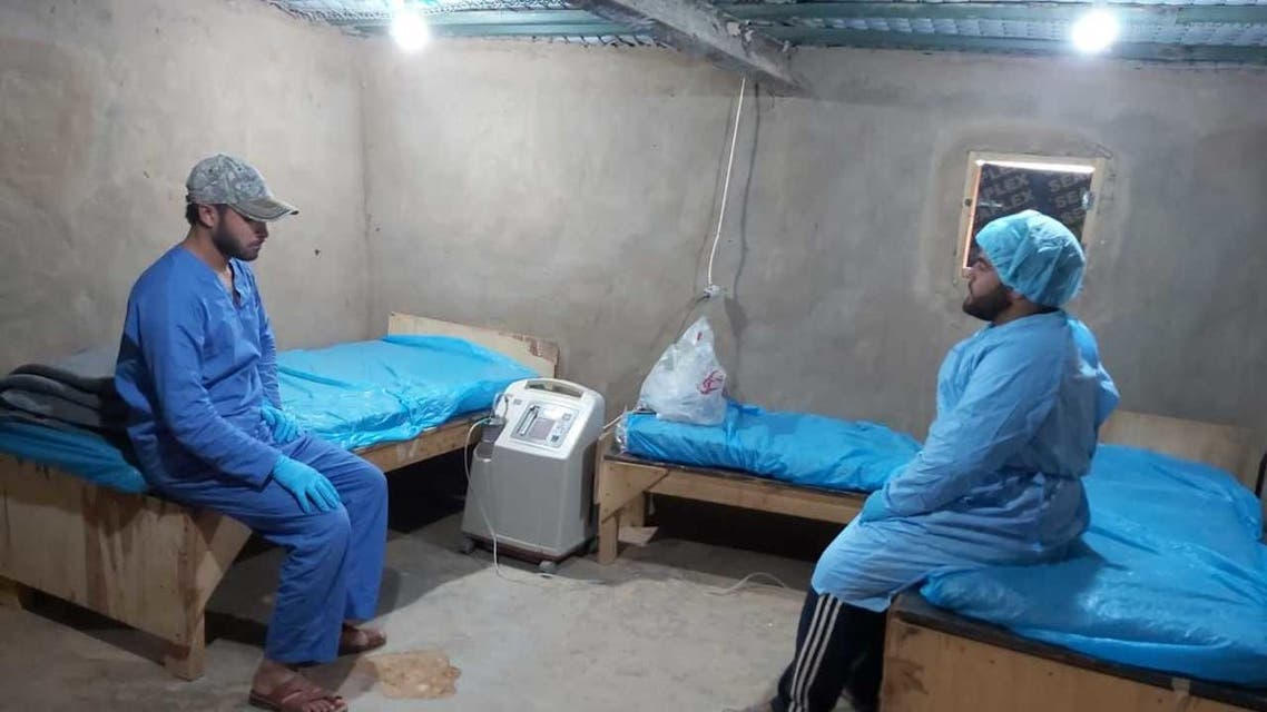 Makeshift clinic in Rukban Camp on Syria Jordan border. (Supplied - Abu Abdullah)