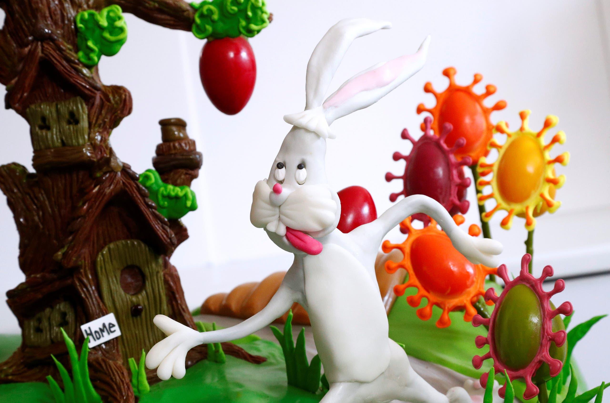 الأرنب يهرب من فيروس كورونا في لوحة الشيف مايكل لويس أندرسون