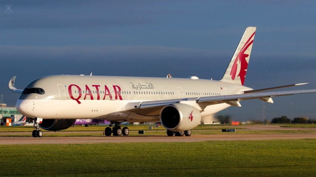 طائرة تابعة للخطوط القطرية