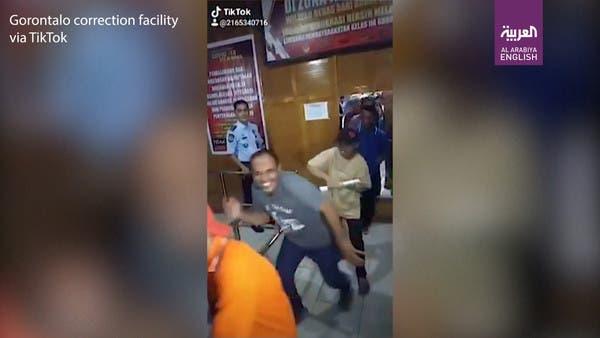 Watch: Indonesian inmates cheer coronavirus parole in viral dance video
