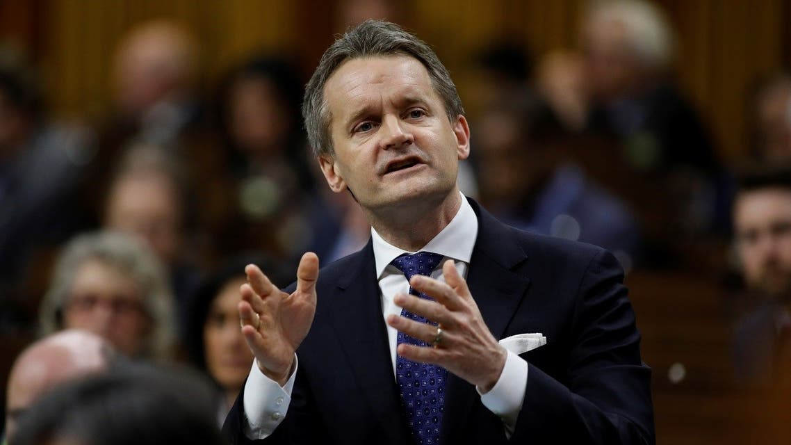 Canada's Minister of Natural Resources Seamus O'Regan speaks during Question Period in the House of Commons on Parliament Hill in Ottawa. (Reuters)