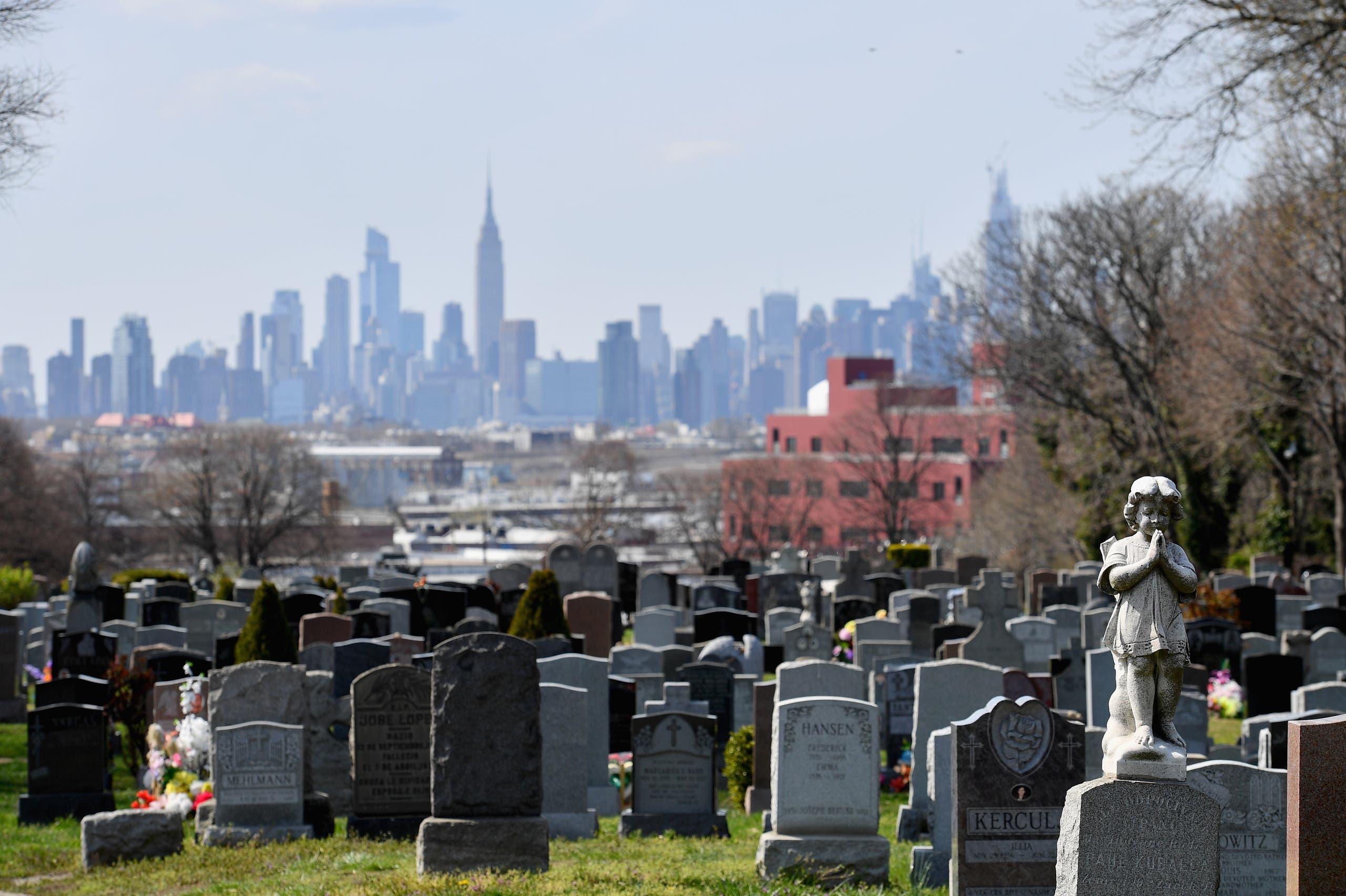 من بروكلين في الولايات المتحدة (11 أبريل 2020- فرانس برس)