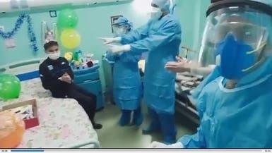 شاهد أطباء يحتفلون بعيدميلاد طفل مصاب بكورونا