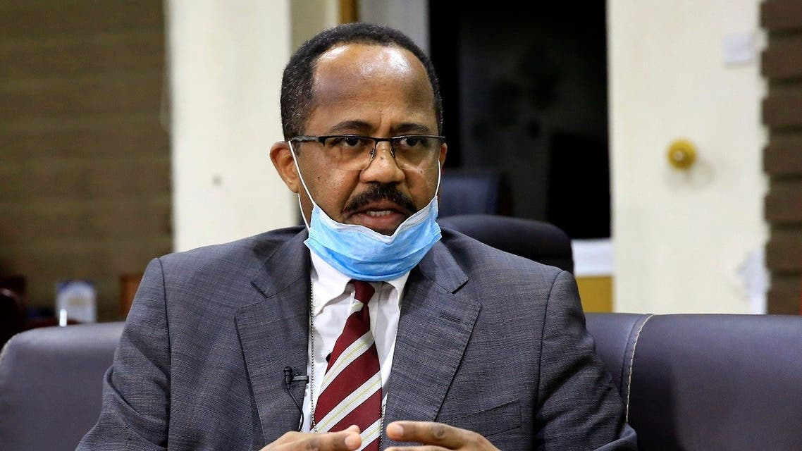 Sudan's Minister of Health Akram Ali Altom speaks during a Reuters interview amid concerns about the spread of coronavirus disease (COVID-19), in Khartoum. (Reuters)