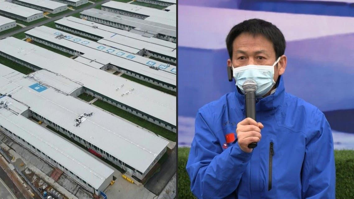 Wang Xinghuan, director of the Leishenshan Hospital in Wuhan. (AFP)
