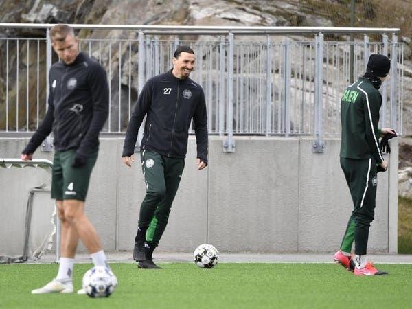 إبراهيموفيتش ينضم إلى تدريبات هاماربي السويدي
