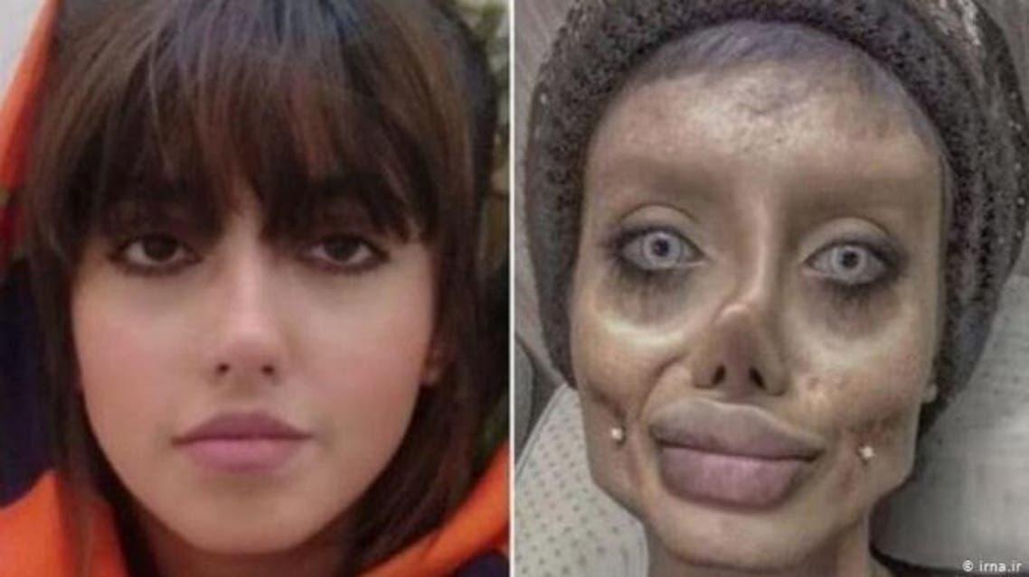 سحر تبر الملقبة بـ أنجلينا جولي إيران