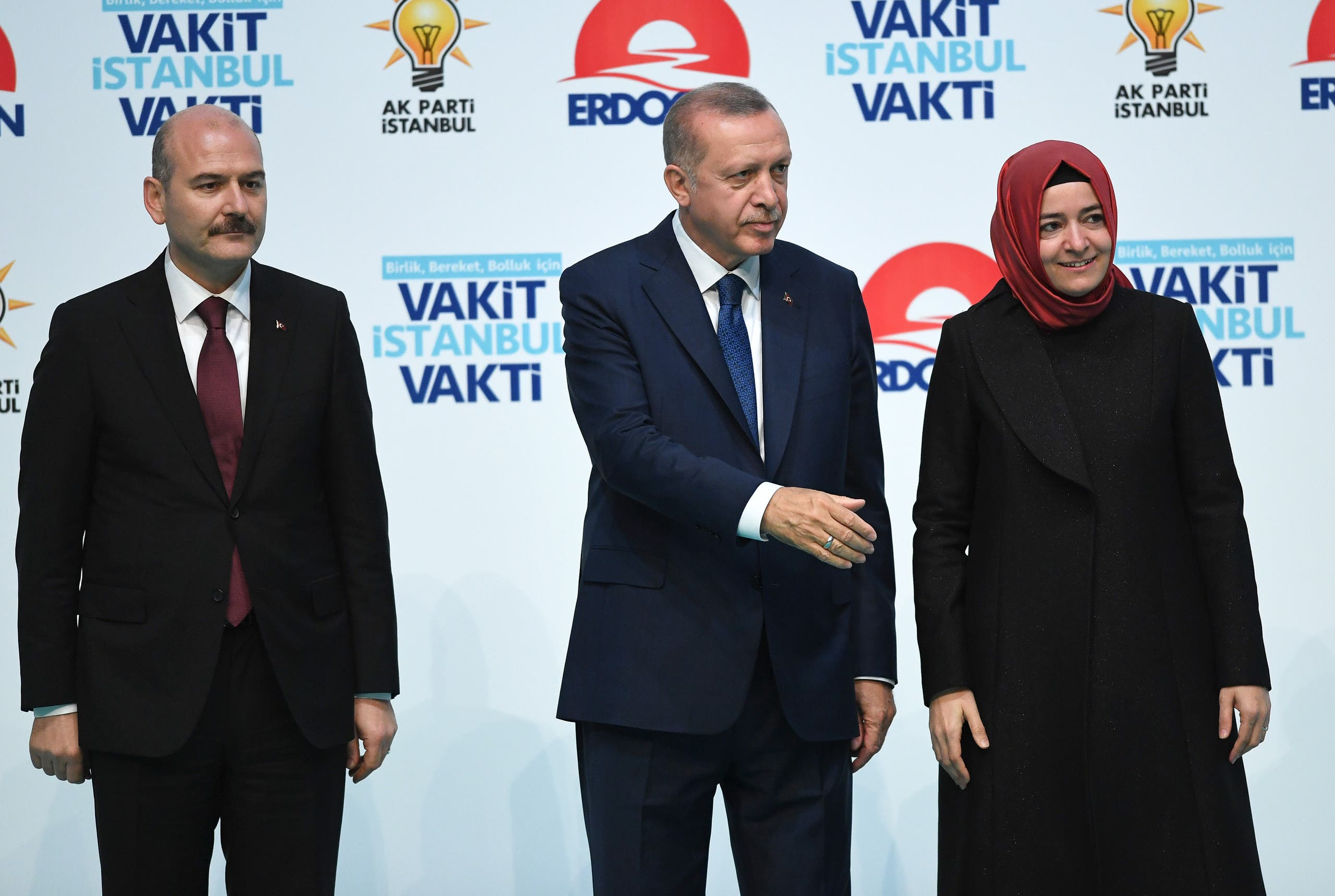 الرئيس التركي رجب طيب أردوغان ووزير الداخلية سليمان صويلو(أرشيفية- فرانس برس)
