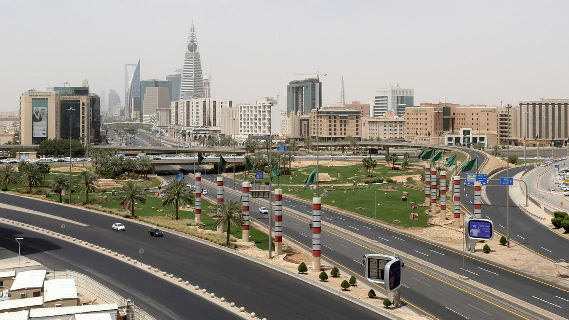 A general view shows almost empty streets, during the 24 hours lockdown to counter the coronavirus disease (COVID-19) outbreak in Riyadh, Saudi Arabia April 7, 2020. (Reuters)