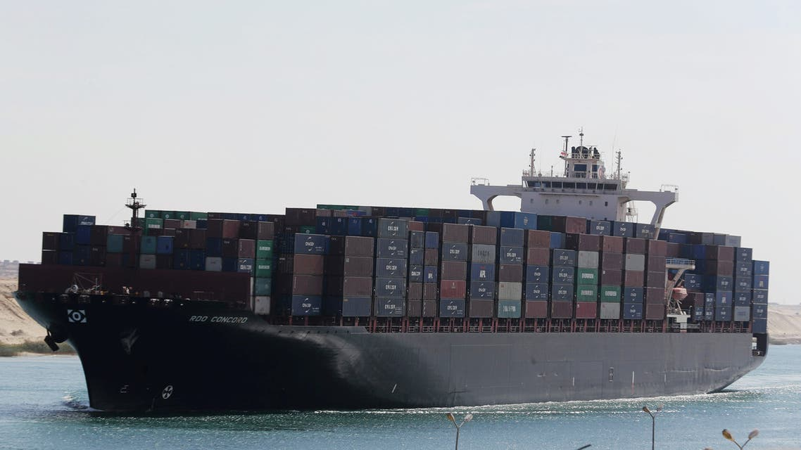 Container ship RDO Concord sails through the Suez Canal as Egypt celebrates the 150th anniversary of the canal opening in Ismailia, Egypt November 17, 2019. REUTERS