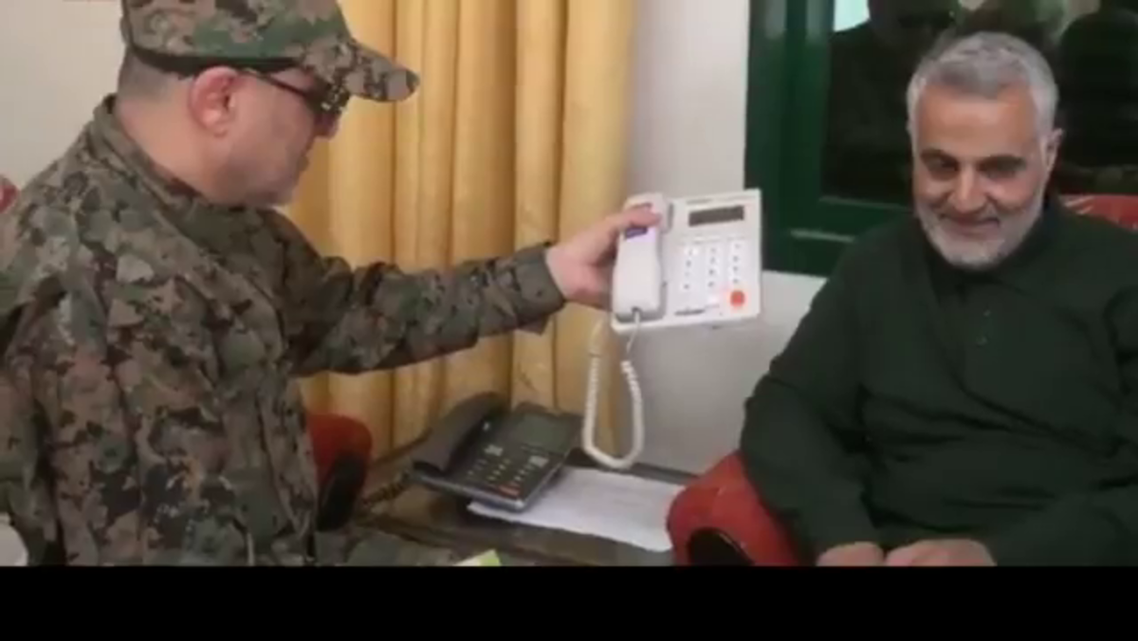 IRGC shares undated video showing Soleimani and Hezbollah's Badreddine in Syria