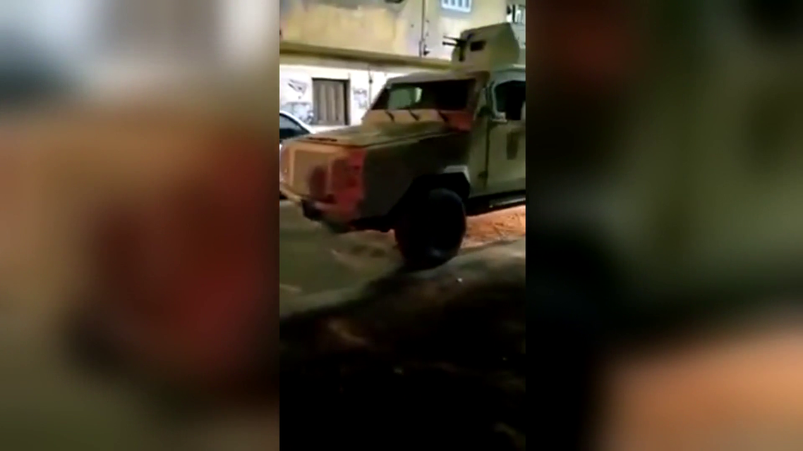 Egypt armored vehicle in Cairo