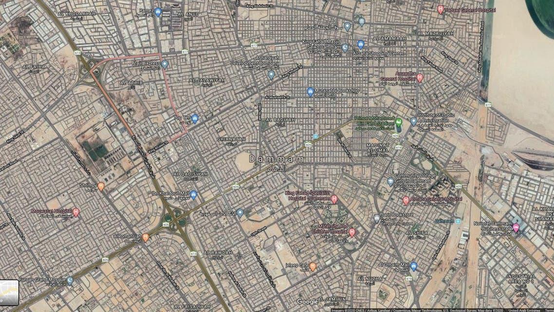 atheer dammam google maps