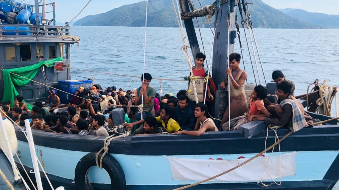 A boat carrying suspected ethnic Rohingya migrants is seen detained in Malaysian territorial waters, in Langkawi, Malaysia April 5, 2020. (Reuters)