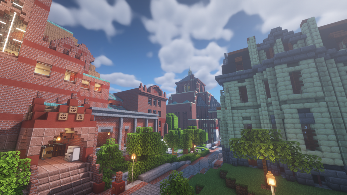 A view of University of Pennsylvania's Penncraft server on Minecraft. (Andrew Guo)