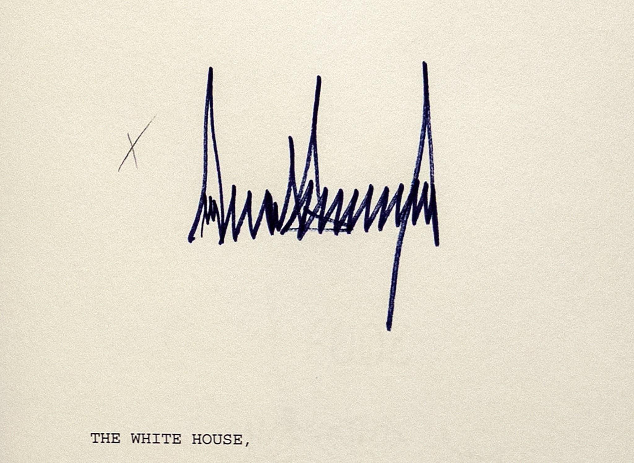 توقيع ترمب