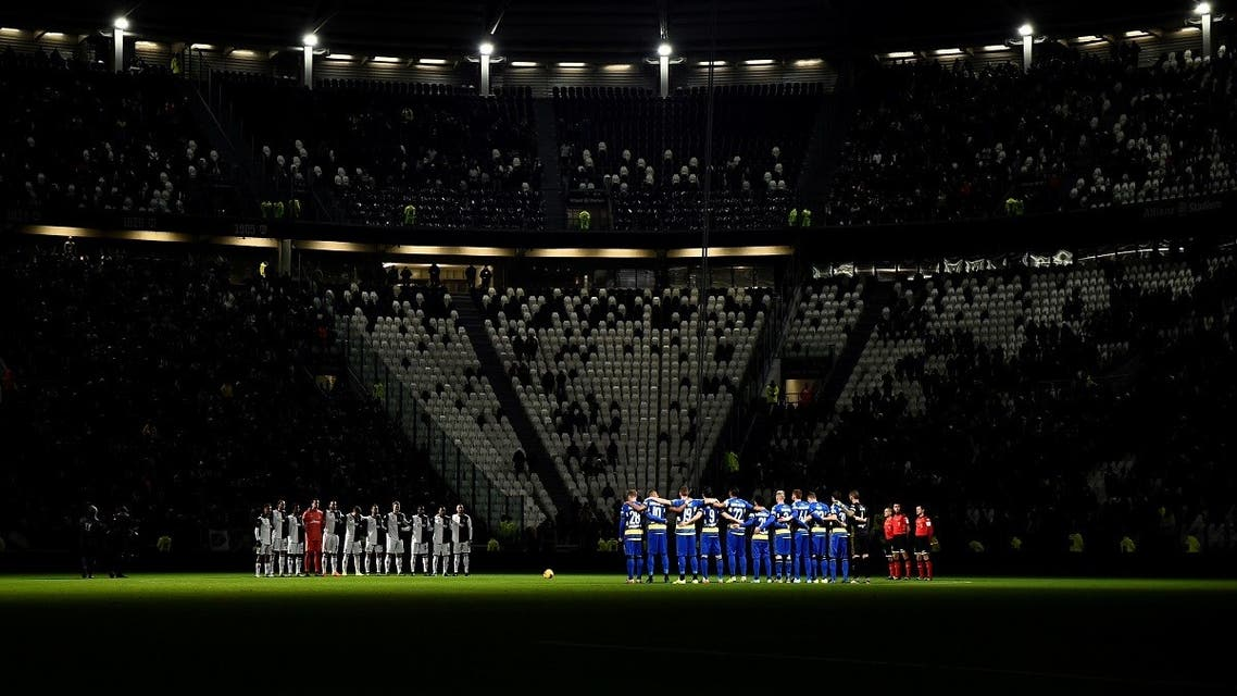 Juventus v Parma - Allianz Stadium, Turin, Italy - January 19, 2020 General view as the teams observe a minutes silence before the match REUTERS/Massimo Pinca/File Photo