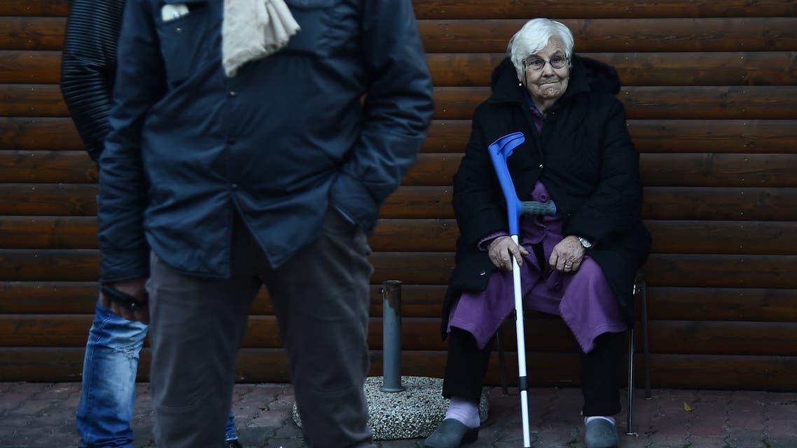 مسنة من إيطاليا (فرانس برس)