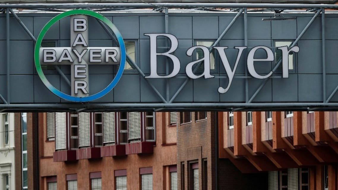 A bridge is decorated with the logo of a Bayer AG, a German pharmaceutical and chemical maker in Wuppertal, Germany August 9, 2019. (Reuters)