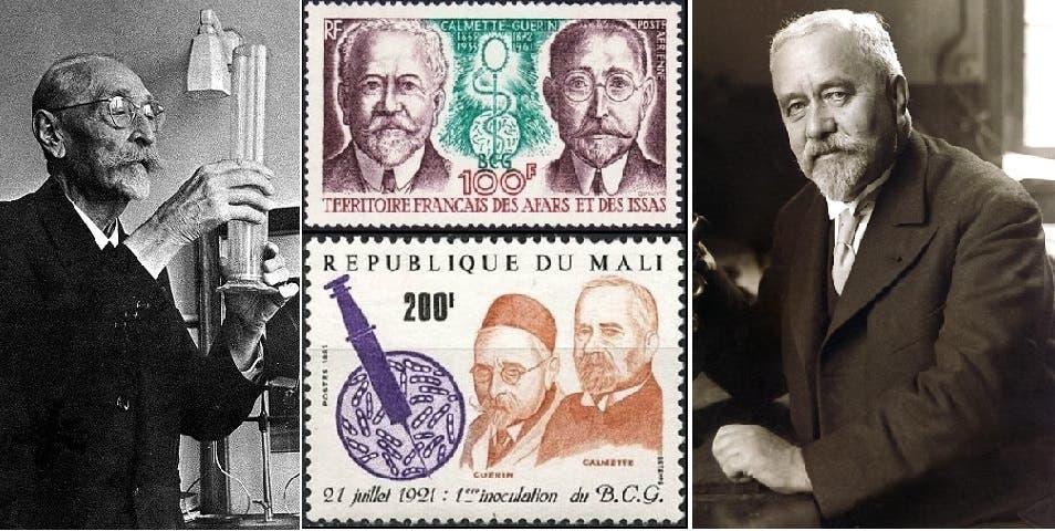 مالي، وأيضا اقليم العفر والعيسى الفرنسي بأفريقيا، وهو جيبوتي الآن، أصدرا في الماضي طابعين تكريما للعالمين الفرنسين، ألبرت كالميتّ (الى اليمين) وزميليه كميل غيران