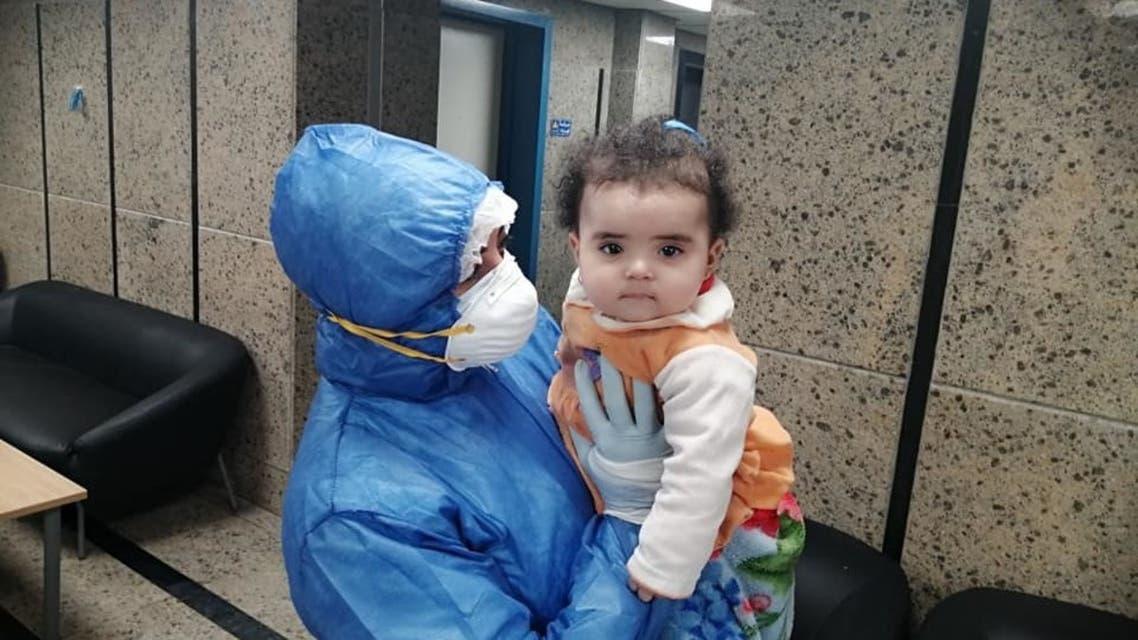 أصغر مصابة بكورونا في مصر