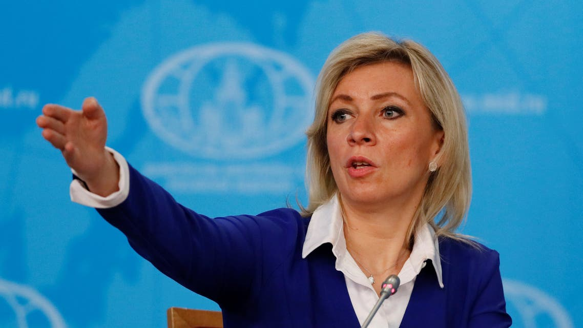 Russia's Foreign Ministry spokeswoman Maria Zakharova gestures during news conference in Moscow, Russia, January 17, 2020. (Reuters)