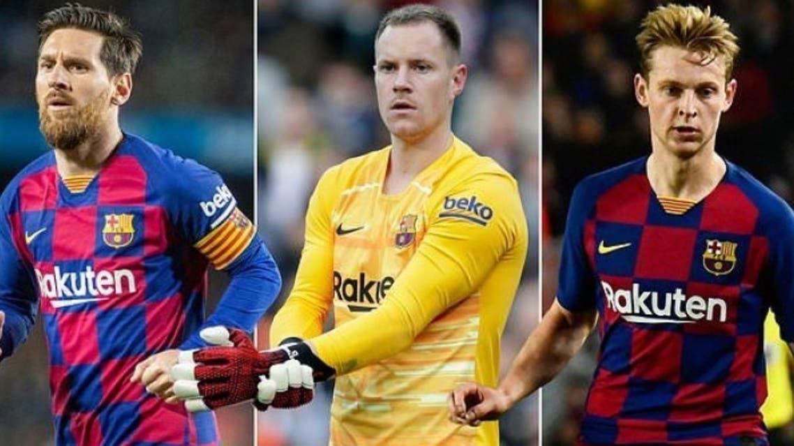 بحران مالی بارسلونا؛ مسی، تر اشتگن و دیونگ تنها بازیکنانی که در بارسلونا ماندگارند