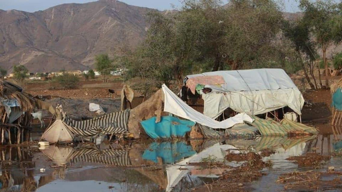 سيول مأرب اليمن