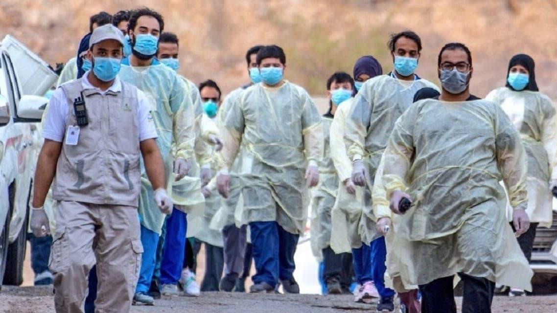 Medical teams in Saudi Arabia have been conducting coronavirus field testing. (Twitter)