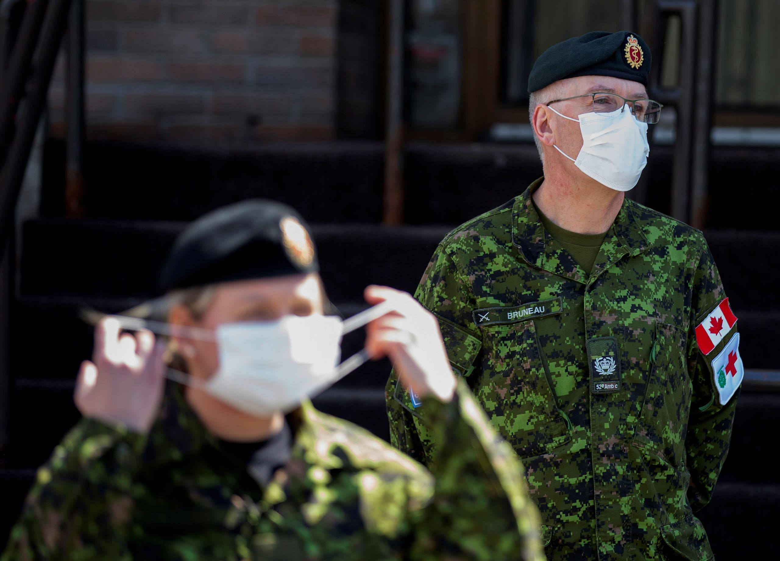 Canadian Armed Forces (CAF) at Centre d'hebergement Yvon-Brunet, a seniors' long-term care center, Montreal, Canada. (File photo: Reuters)