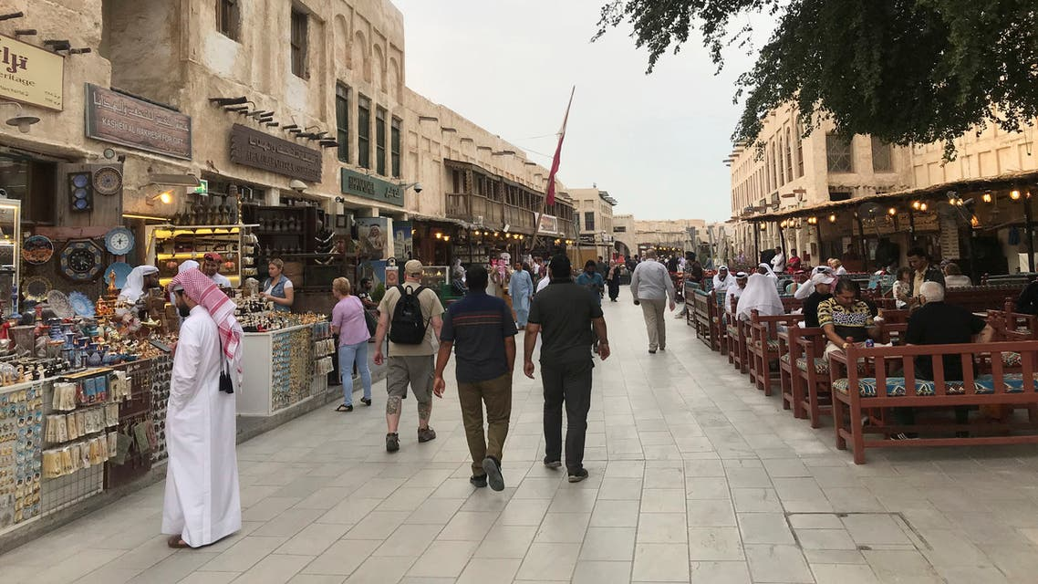 People walk at souq Waqif, following the outbreak of coronavirus, in Doha. (File photo: Reuters)