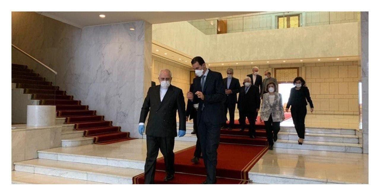 الأسد يستقبل ظريف في دمشق
