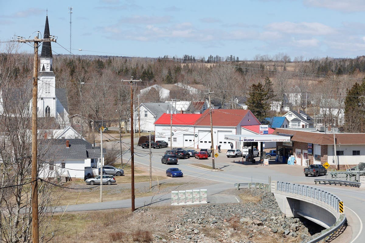 A view of the command post for Royal Canadian Mounted Police (RCMP) after the search for Gabriel Wortman, who they describe as a shooter of multiple victims, in Great Village, Nova Scotia, Canada. (Reuters)
