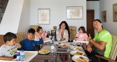 رونالدو مع عائلته