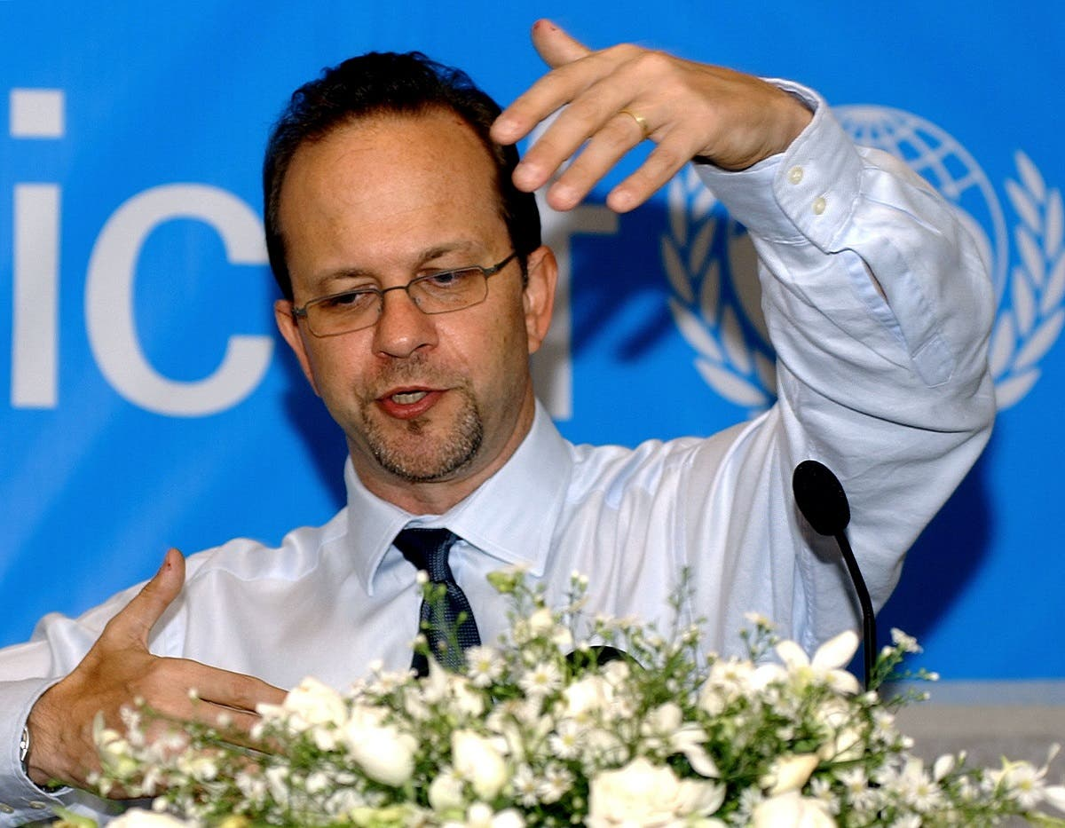File photo of Ted Chaiban, UNICEF director for the Middle East and North Africa. (AFP)