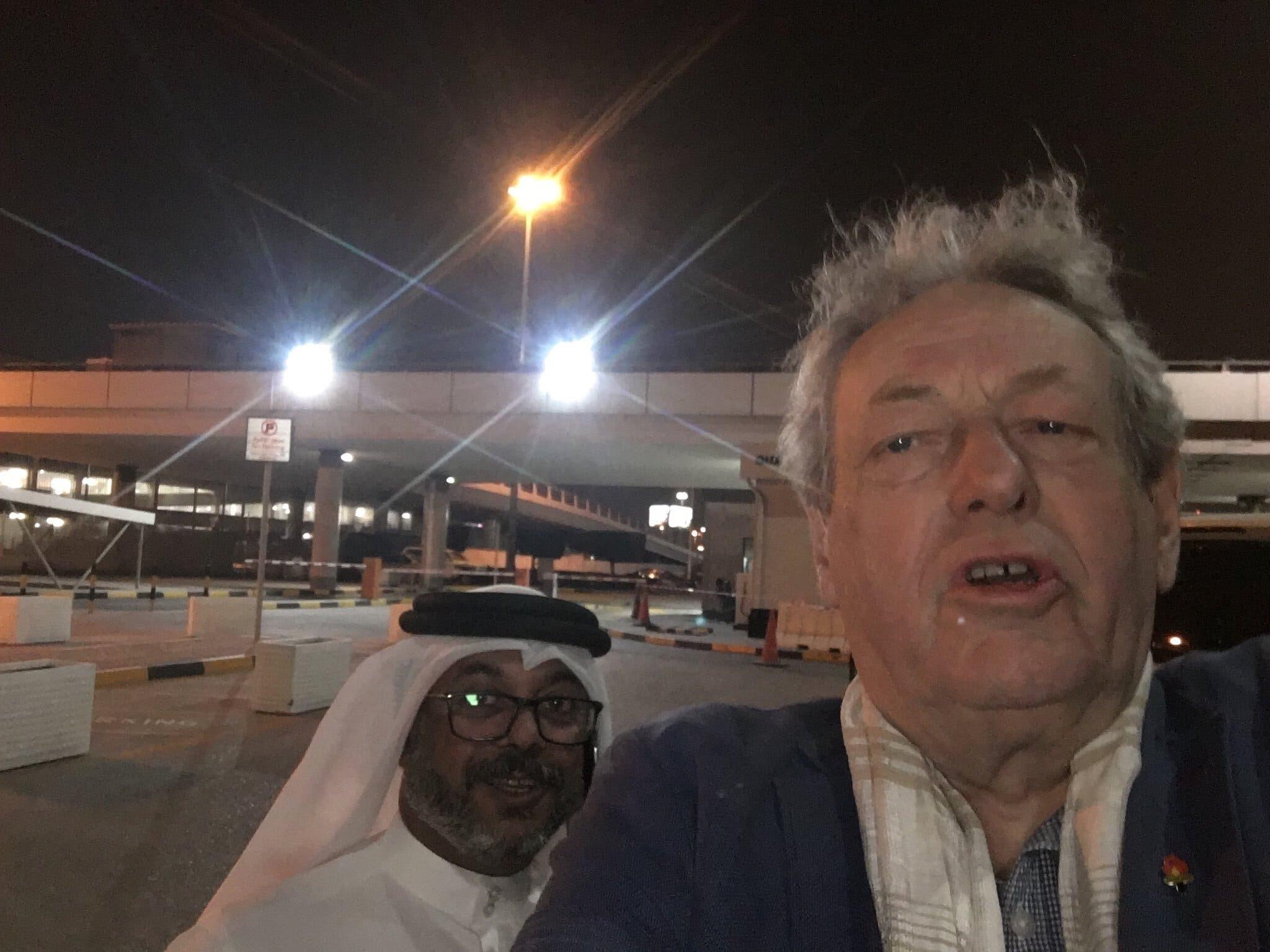 A selfie taken by John Ashton in Bahrain, March 7. (John Ashton, Twitter)