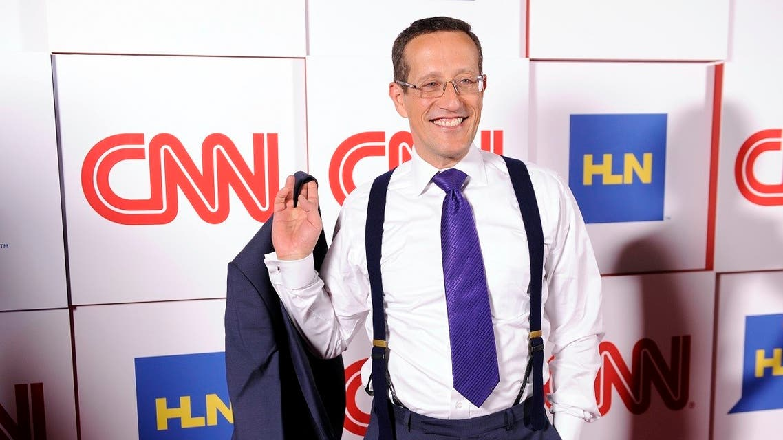 Richard Quest of CNN poses at the CNN Worldwide All-Star Party, on Friday, Jan. 10, 2014, in Pasadena, California. (AP)