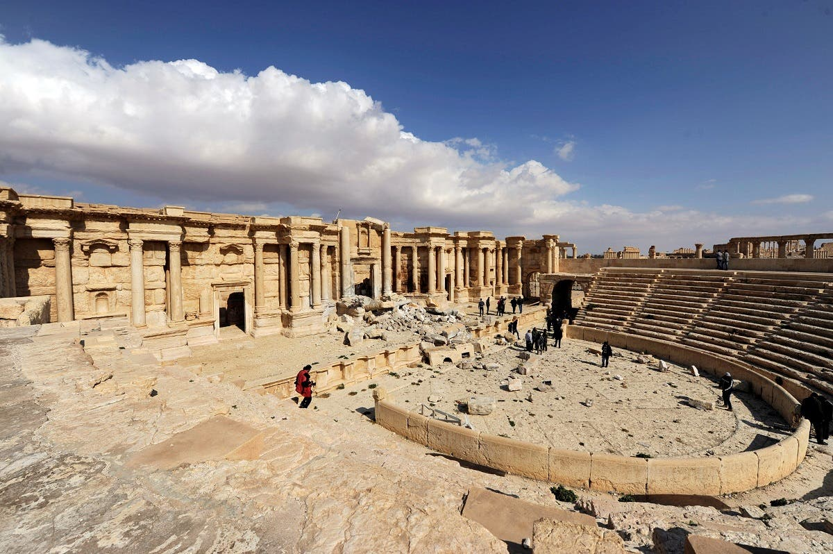 A general view shows damage in the amphitheater of the historic city of Palmyra, Syria March 4, 2017. (Reuters)
