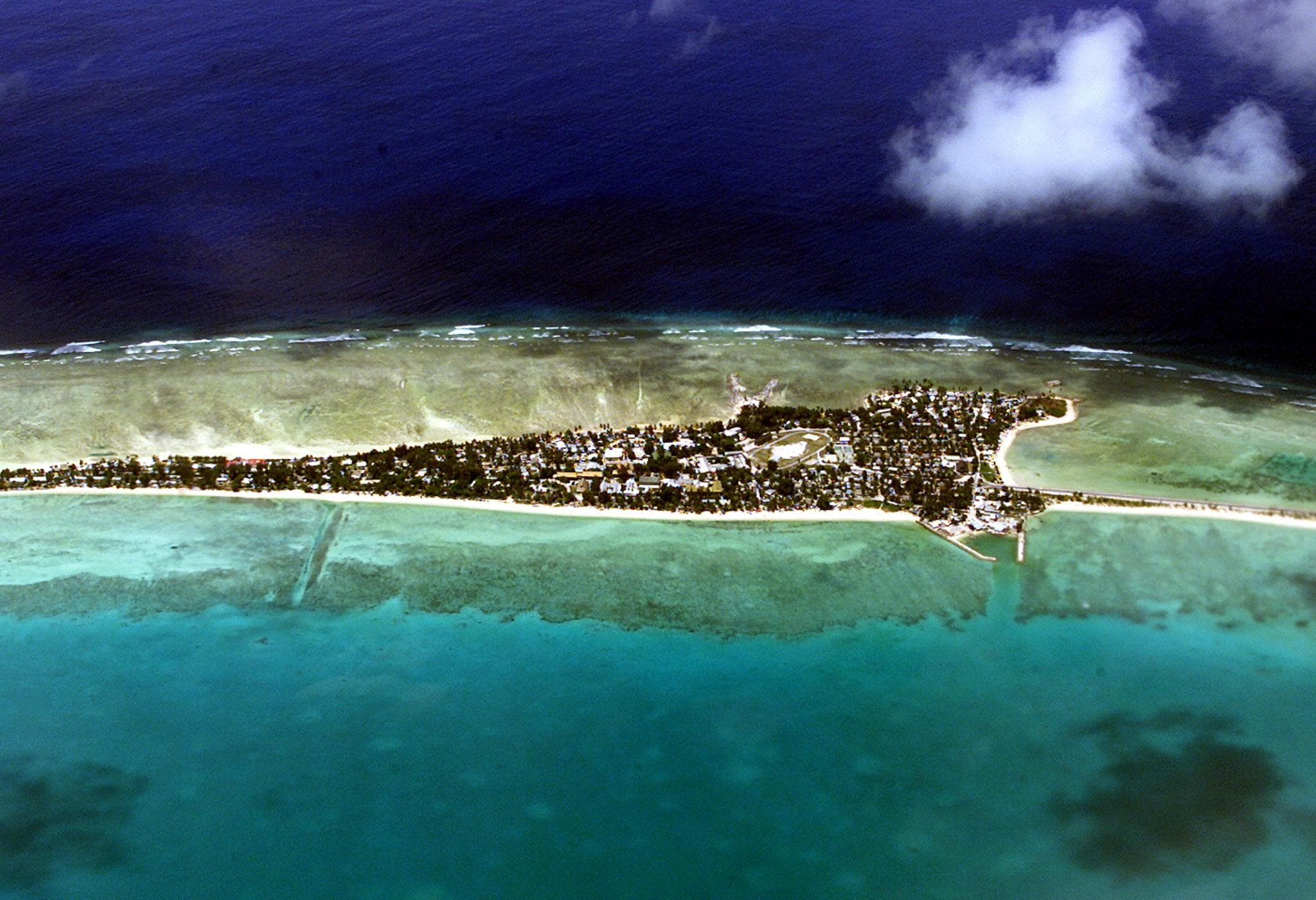 Vacant land on Tarawa, capital of the vast archipelago nation of Kiribati on September 11, 2001. (AFP)