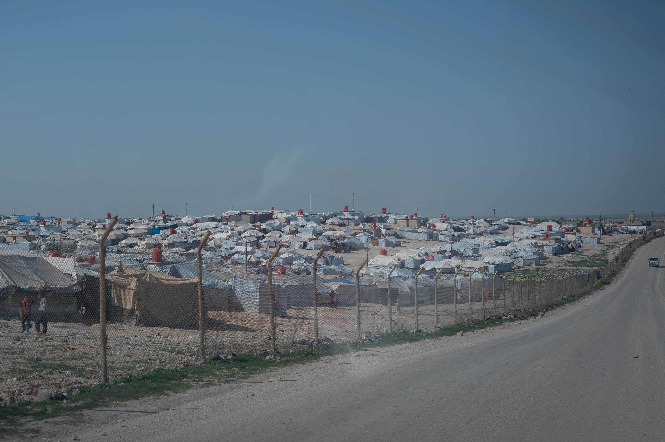 A photo taken looking into the Al Hol camp in northeast Syria. (MSF)
