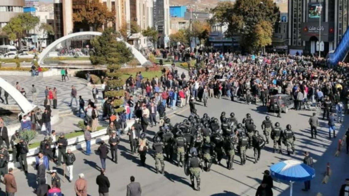 احتجاجات ايران في نوفمبر 2019