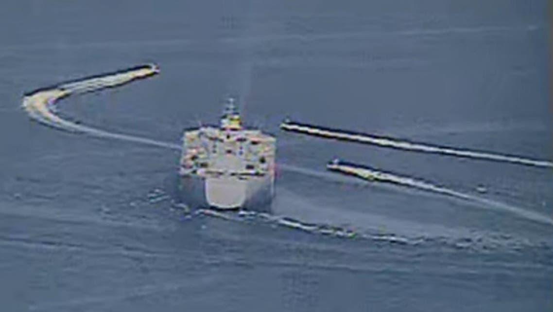 Iranian Islamic Revolutionary Guard Corps Navy vessels alongside U.S. Naval Forces in the Arabian Gulf. (Reuters)