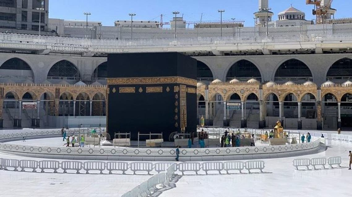Coronavirus: Saudi Arabia removes erected barriers around holy Kaaba in Mecca