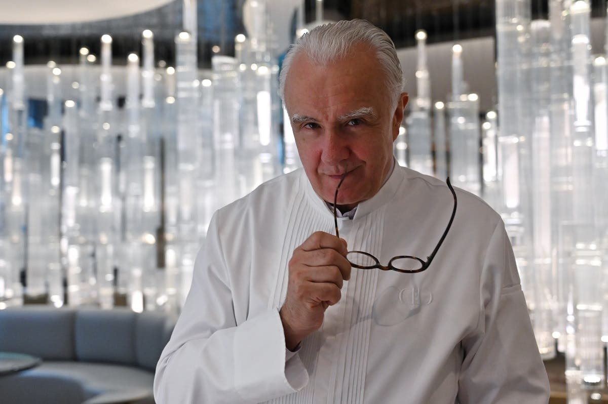In this file photograph taken on June 18, 2019, French chef Alain Ducasse poses during an interview with AFP at his restaurant Alain Ducasse at The Morpheus Hotel in Macau. (AFP)