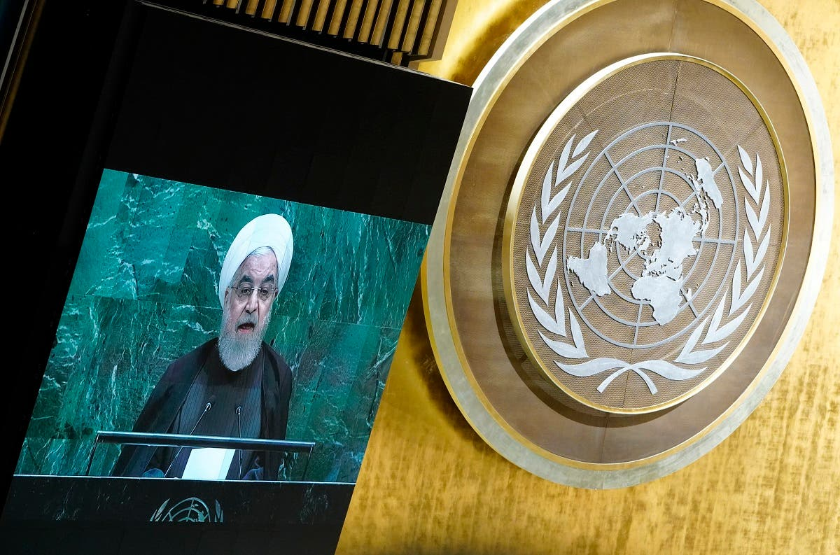 Iran's President Hassan Rouhani addresses the 74th session of the United Nations General Assembly at UN headquarters in New York City. (File photo: Reuters)
