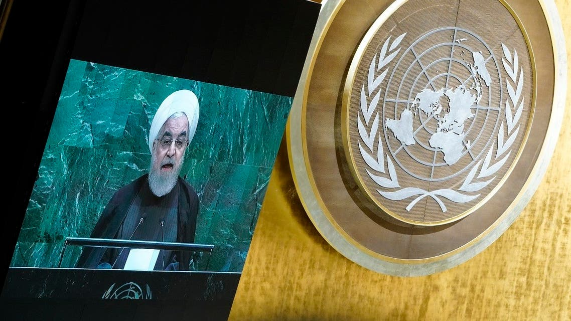 Iran's President Hassan Rouhani addresses the 74th session of the United Nations General Assembly at U.N. headquarters in New York City. (File photo: Reuters)